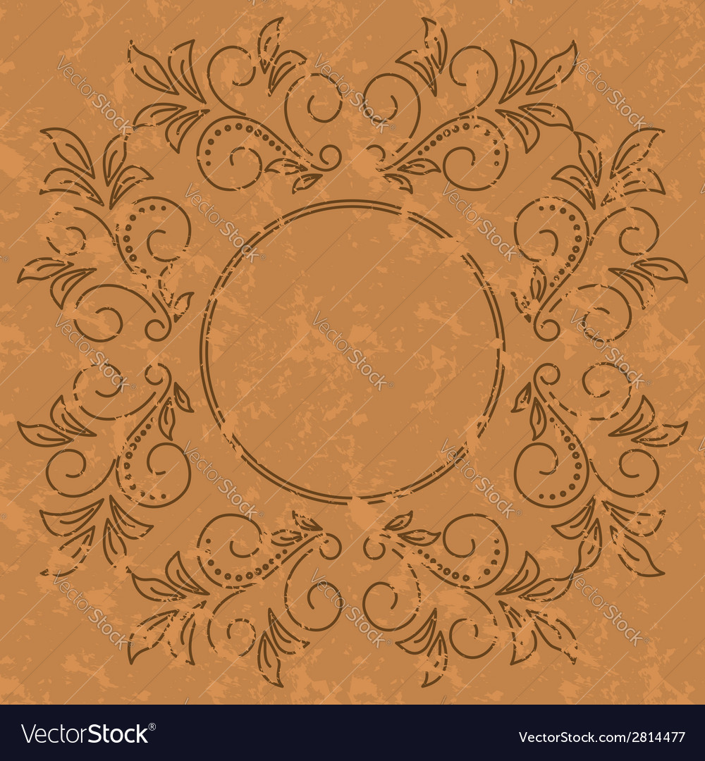 Old pattern - dark vintage background vector image