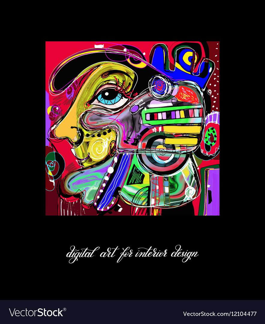 Original contemporary digital painting artwork to