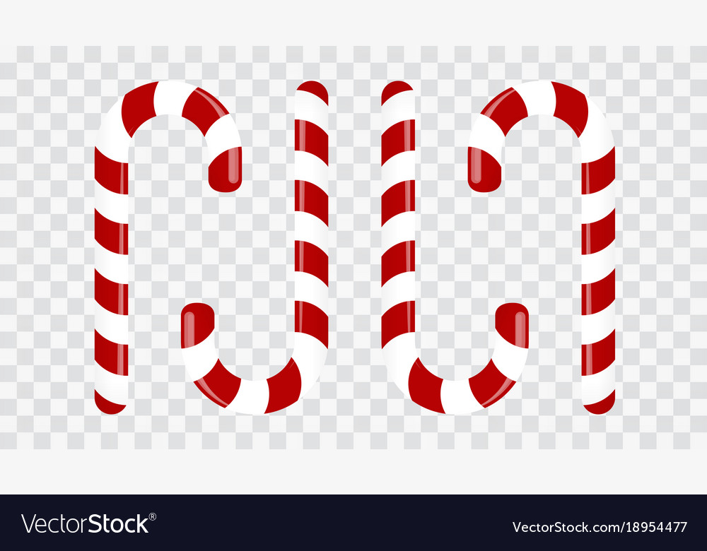 Sweet candy cane on a transparent background