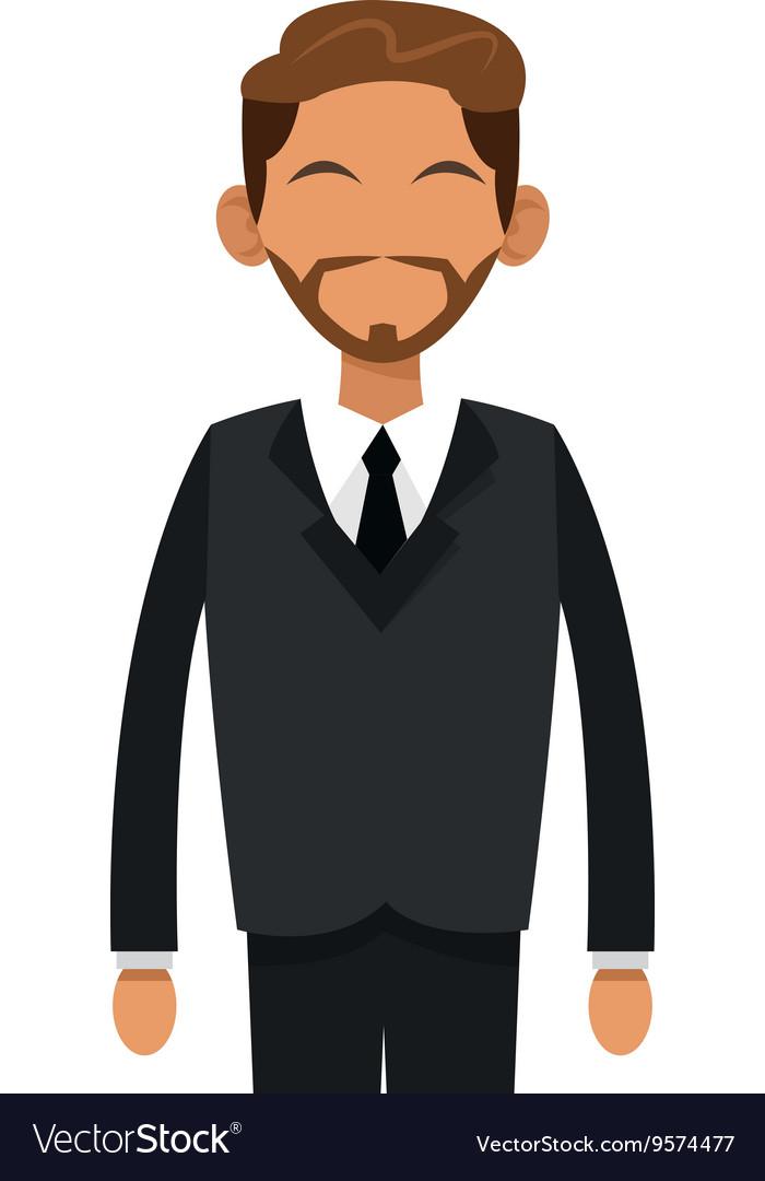 Tan man with beard businessman icon