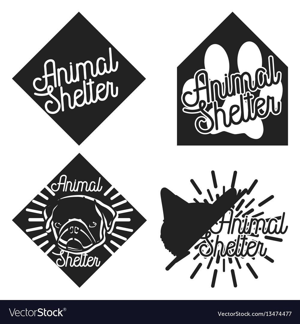 Vintage animal shelter emblems