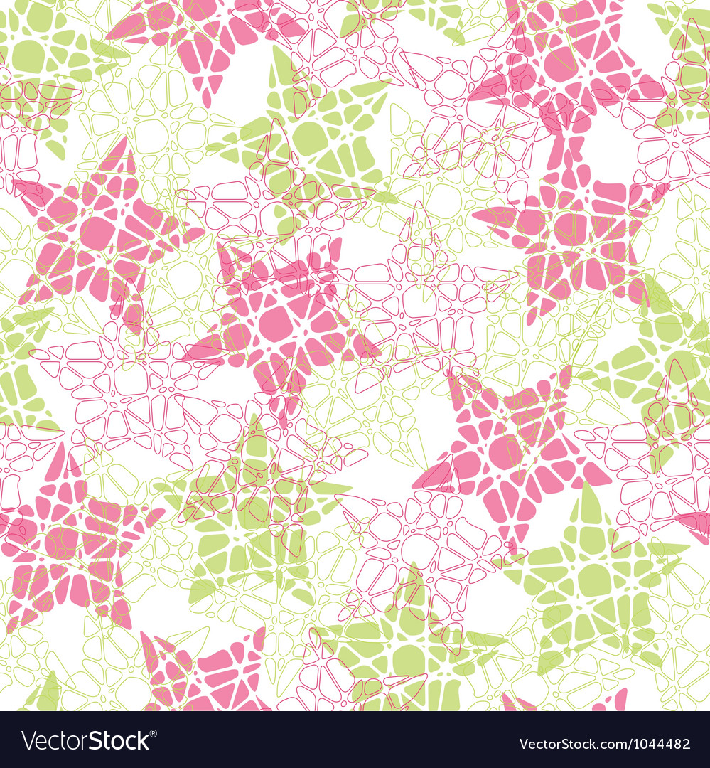 Abstract mosaic star texture vector image
