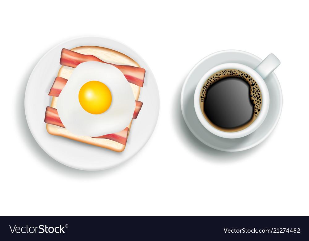 American breakfast realistic