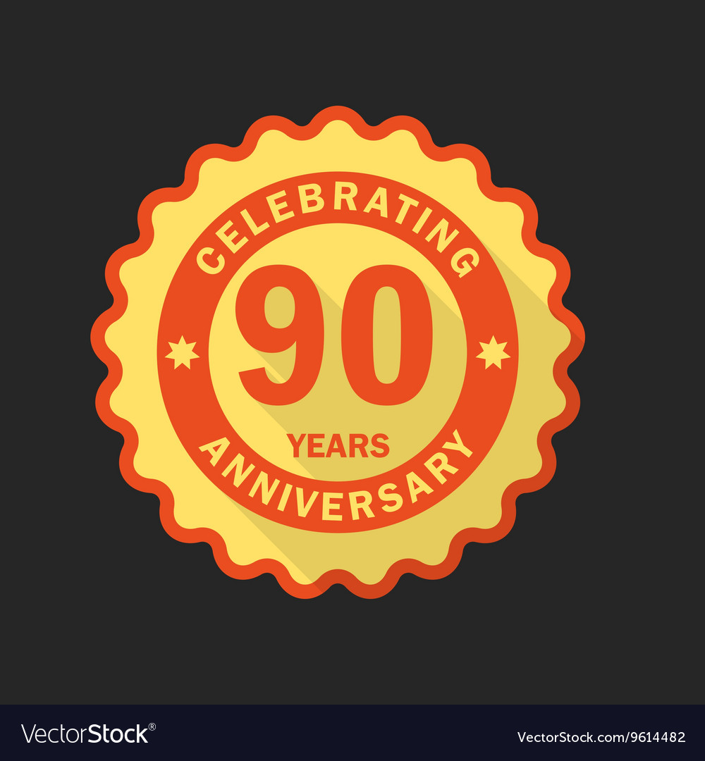 Anniversary emblem logo template Flat style icon