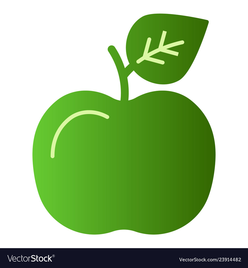 Apple flat icon fruit green icons in trendy flat