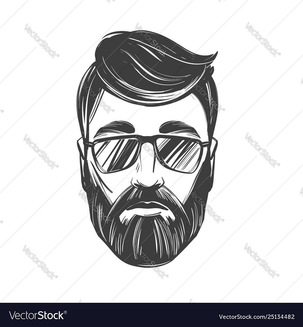 Bearded man barbershop hairstyle haircut hand
