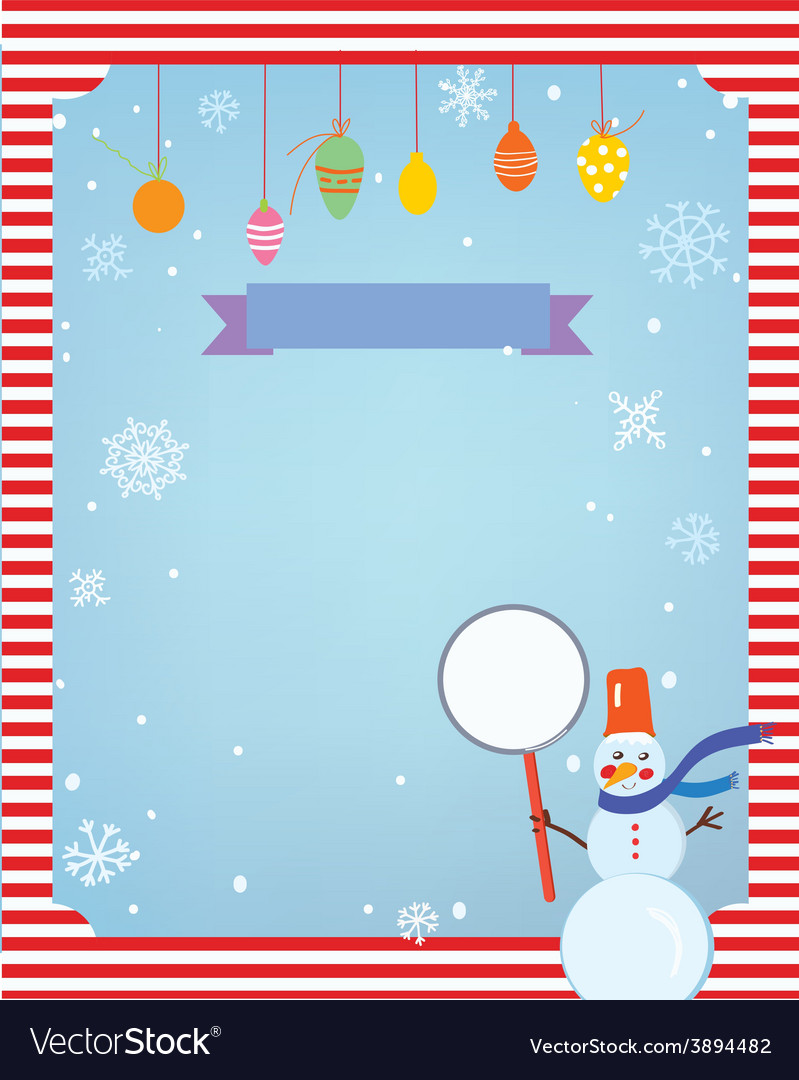 Christmas background for card or invitation with