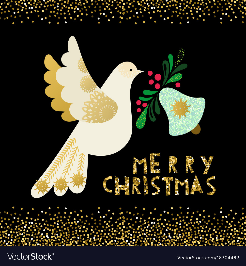 Peace White Bird Free Images Merry Christmas 2021 Gold Golden Peace Dove Vector Images 47