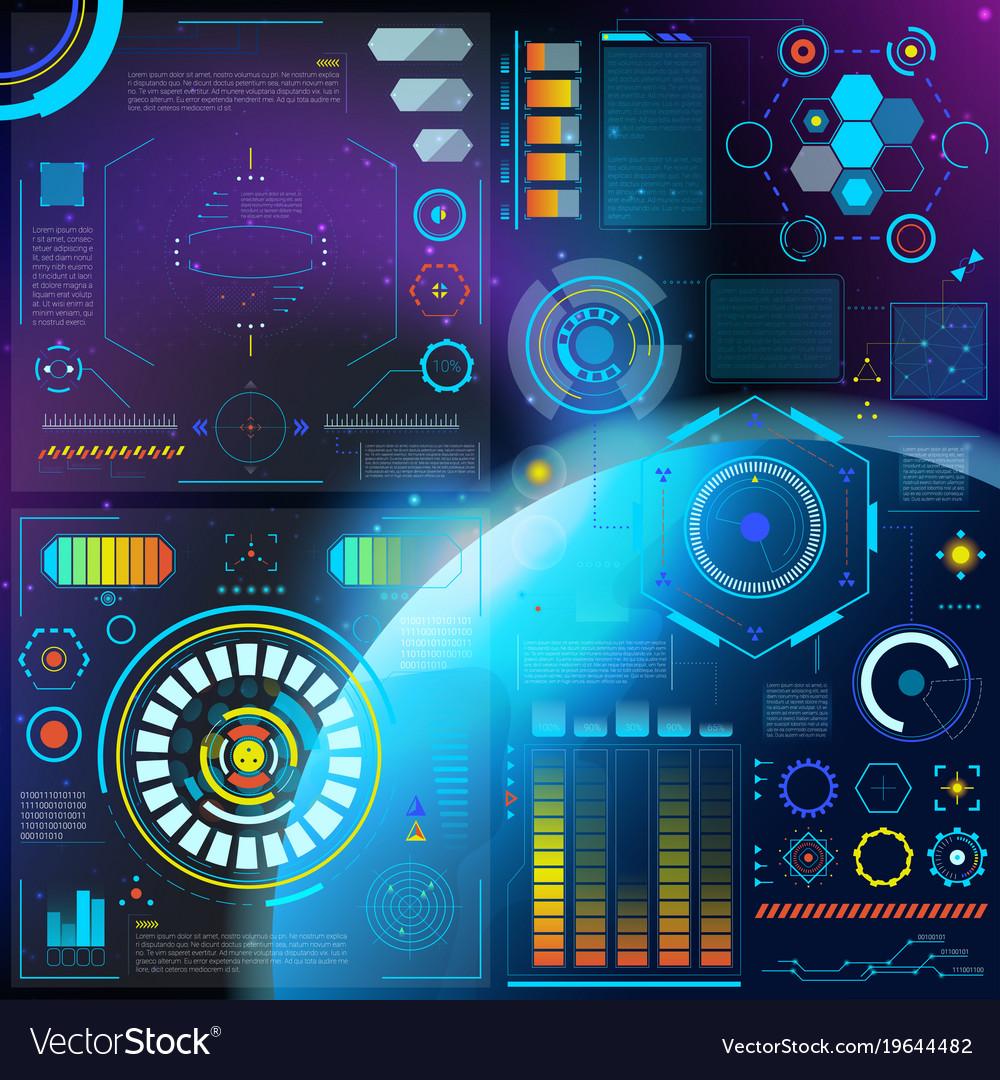Interface hud dashboard futuristic