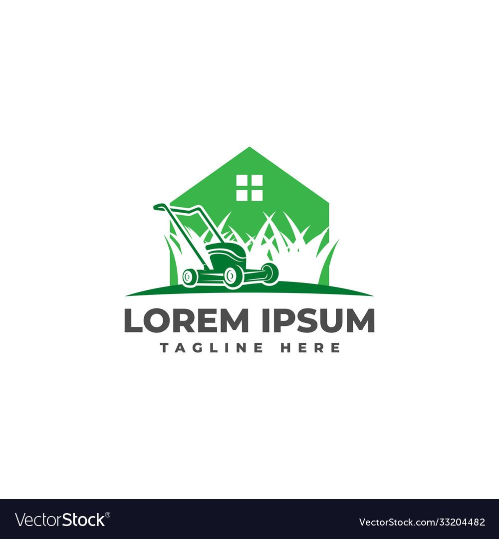 Lawn mower home logo icon