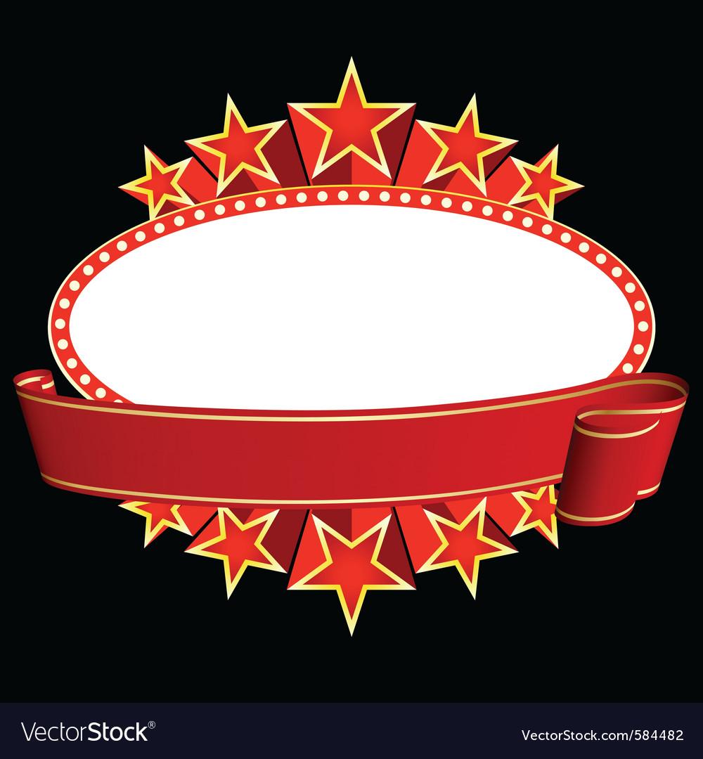 movie banner royalty free vector image vectorstock