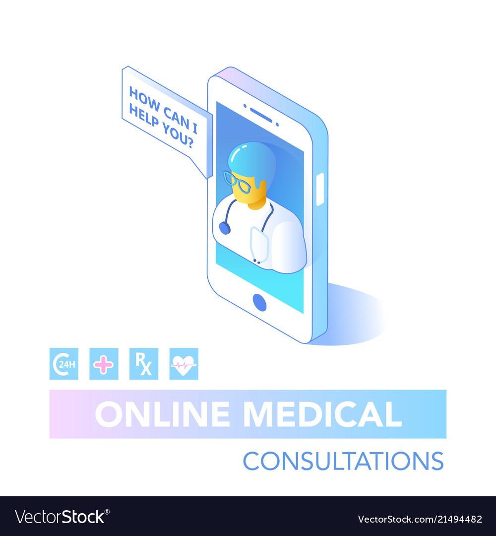 Online healthcare isometric concept consultation