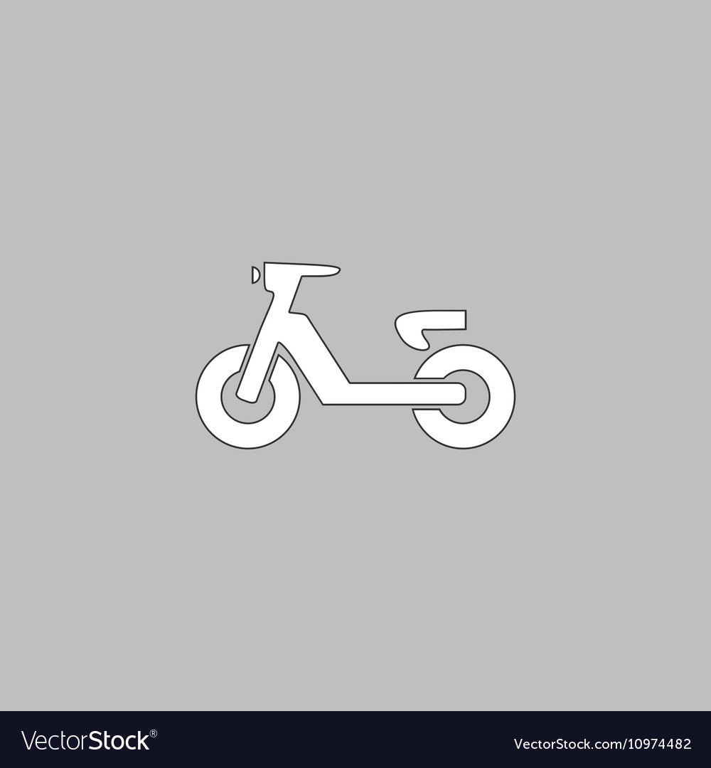 Scooter computer symbol vector image