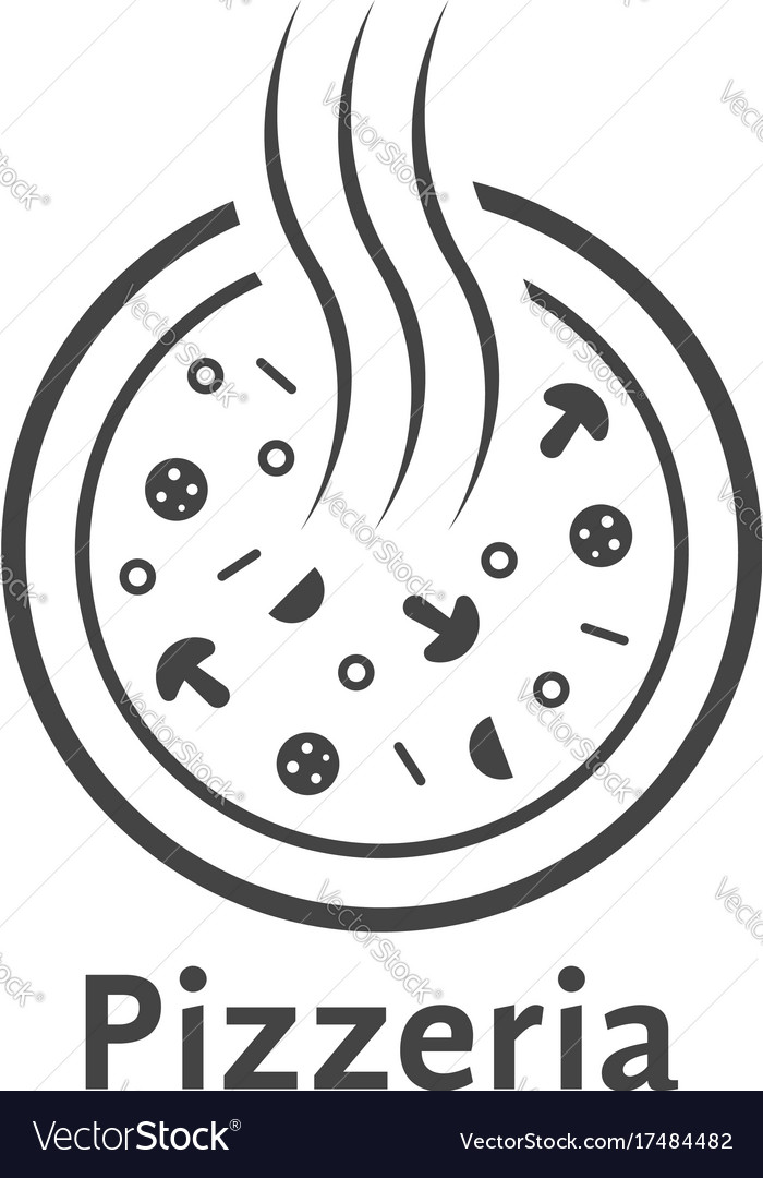Simple outline pizzeria logo