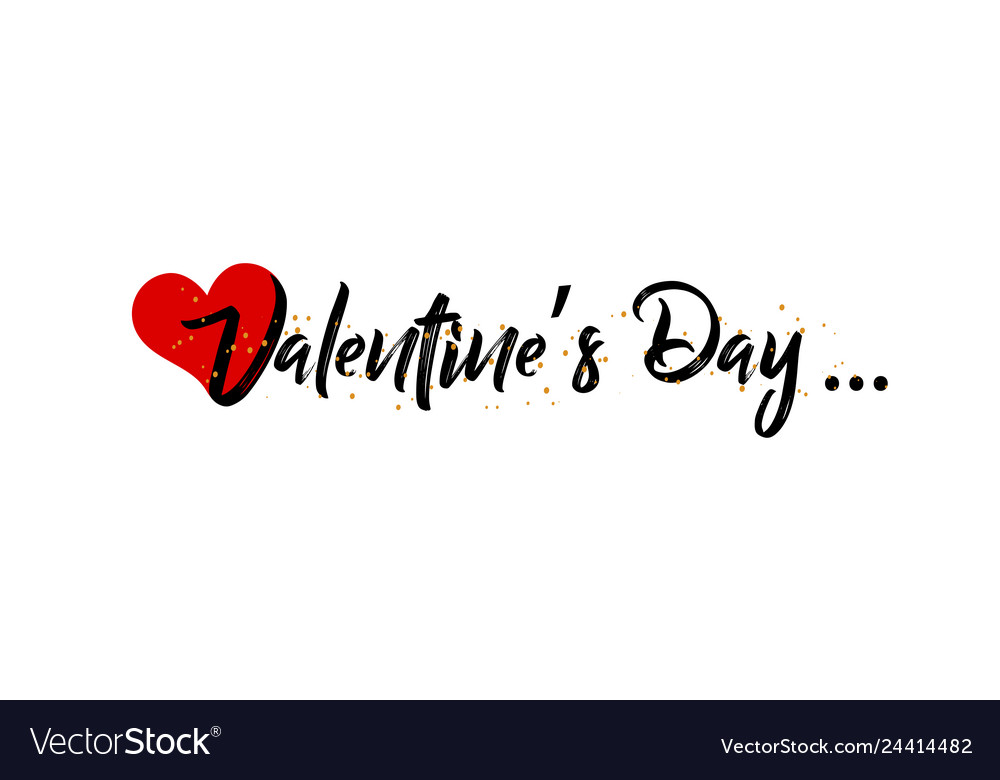 Valentines day on a white background