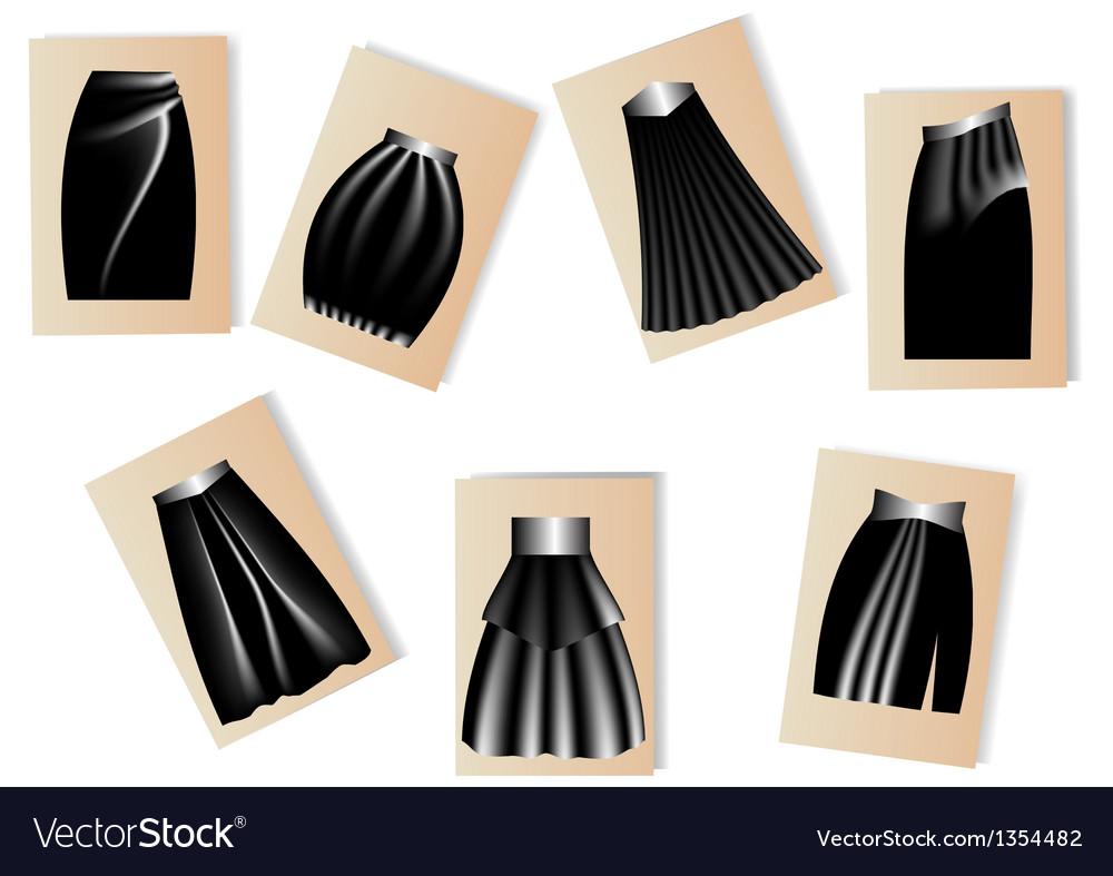 Womens skirts vector image