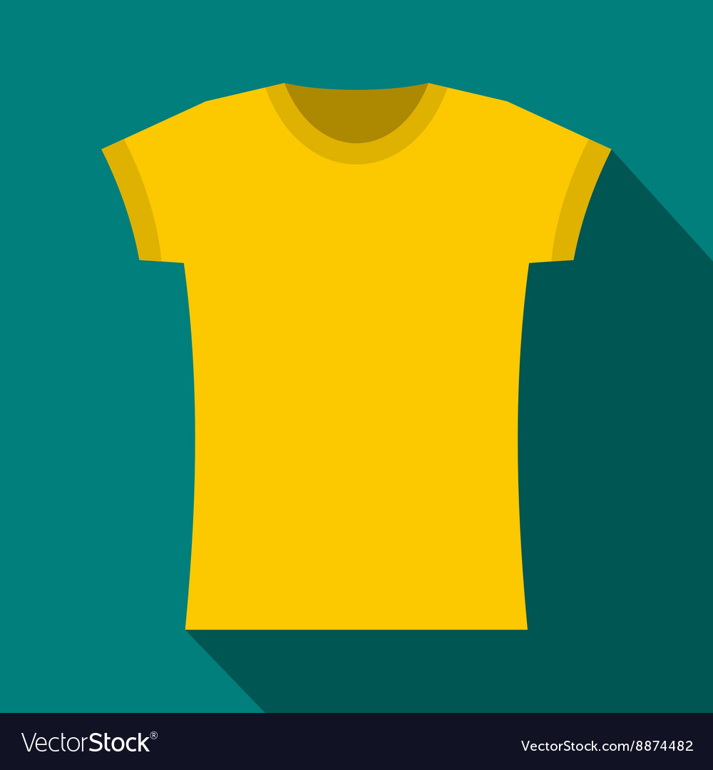 yellow t shirt icon flat style royalty free vector image vectorstock