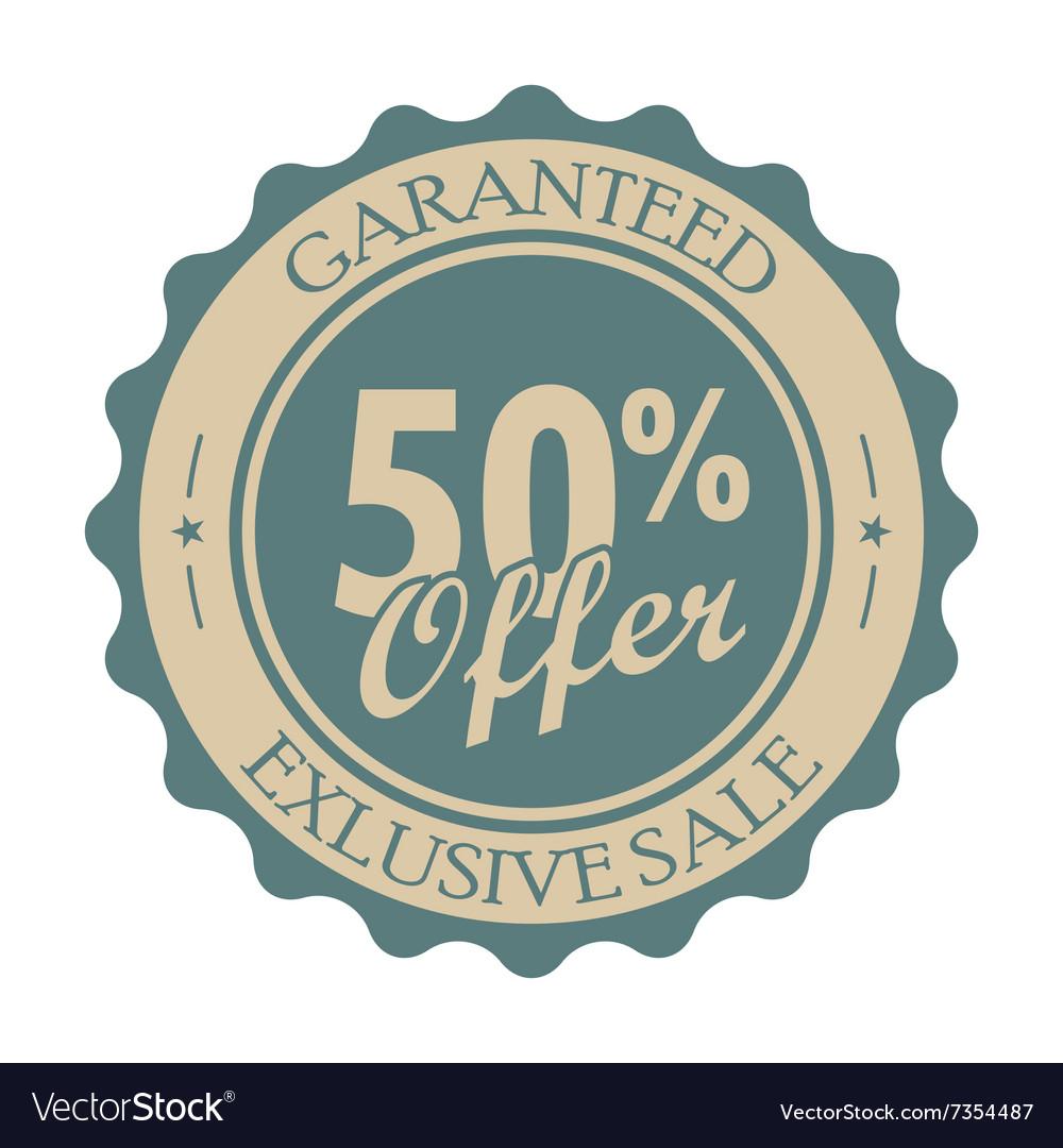 50 percent off vintage tag