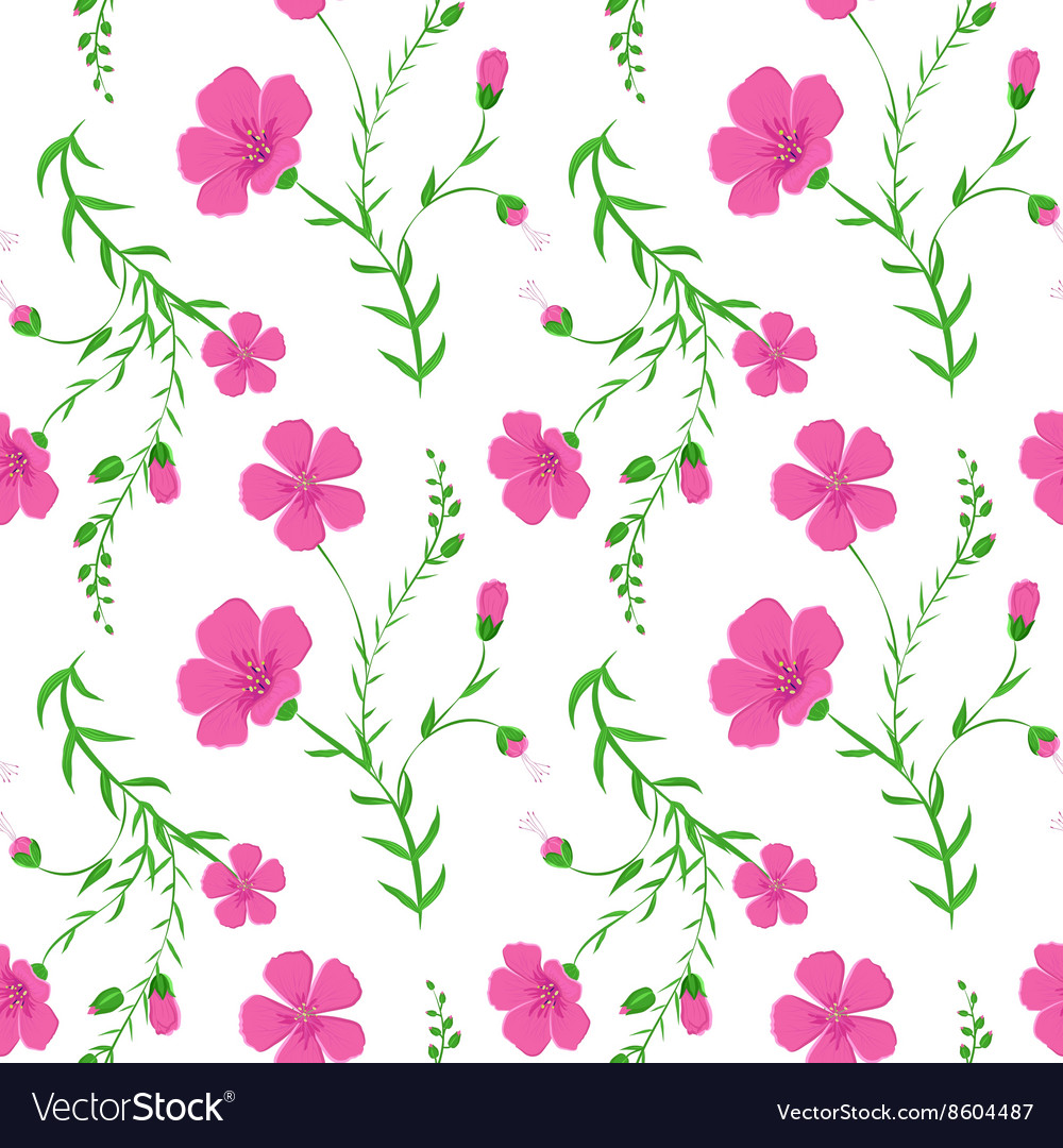 Abstract elegant seamless pattern with floral