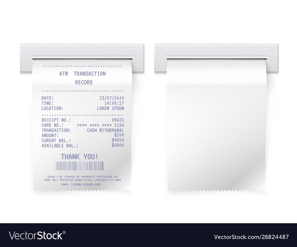 Atm bill in slot realistic