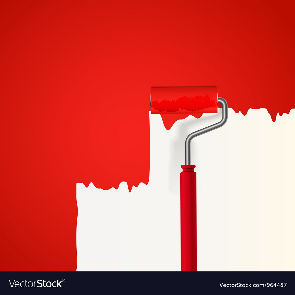 Red Paint Wall VectorStock