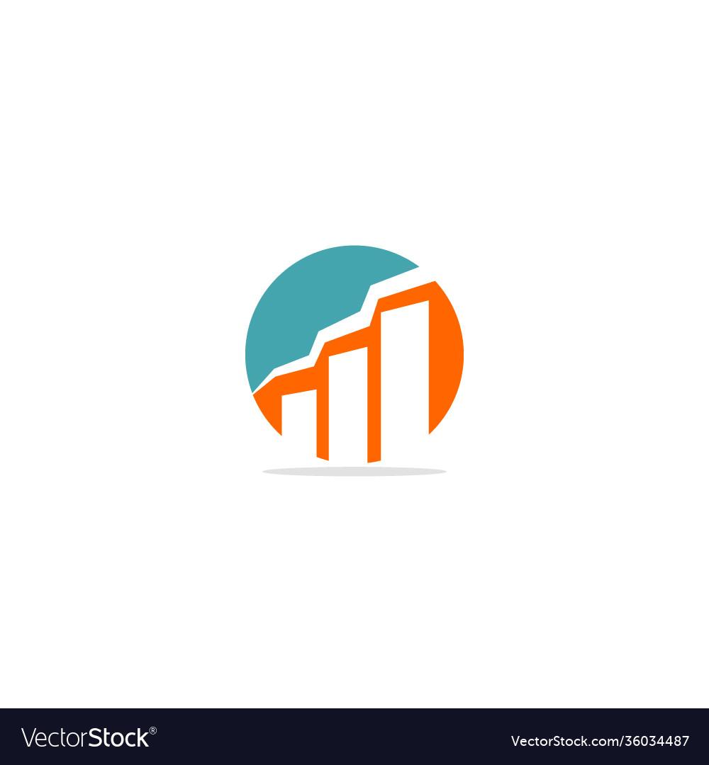 Business graph round logo