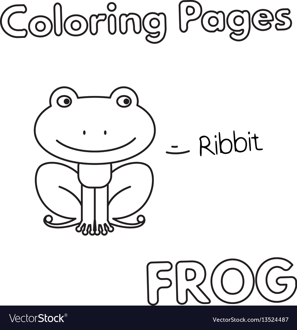 Cartoon frog coloring book