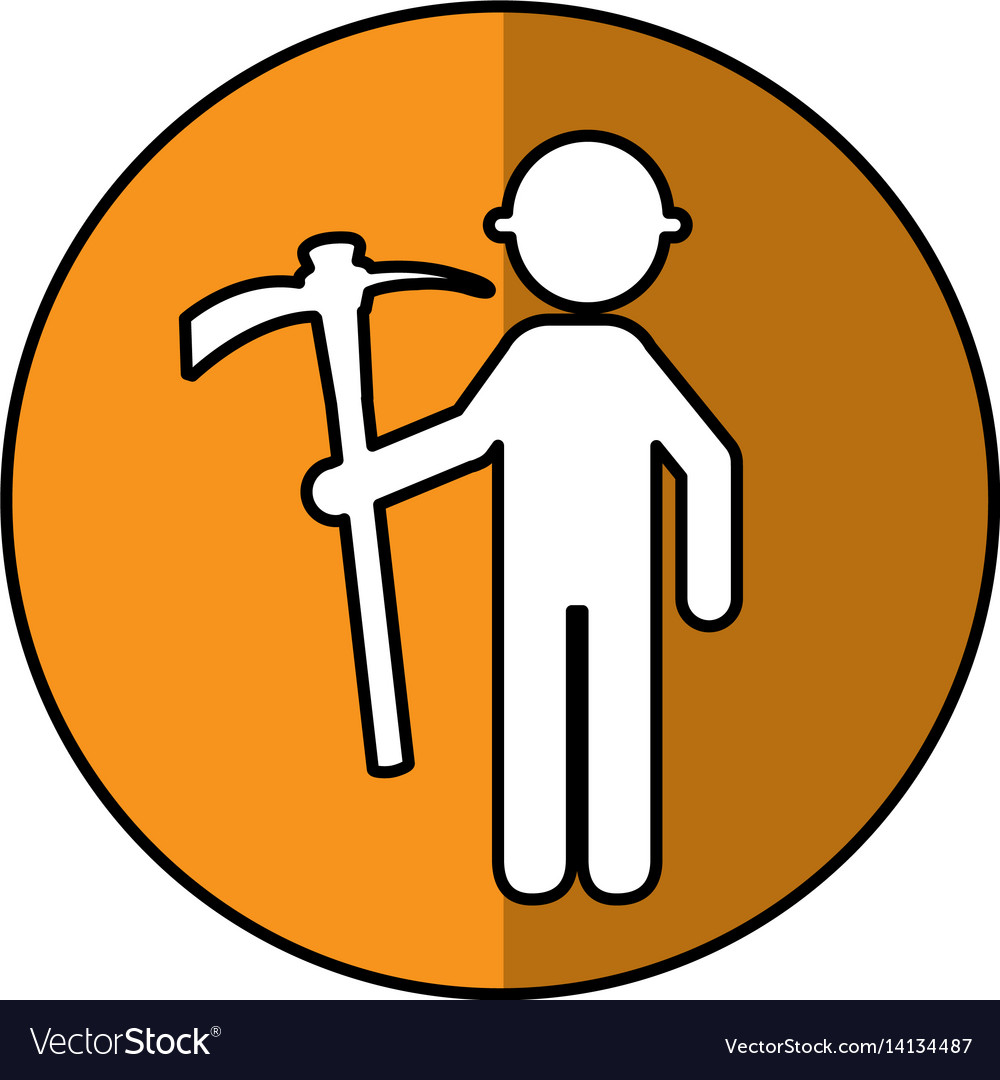 Construction worker with pick avatar vector image