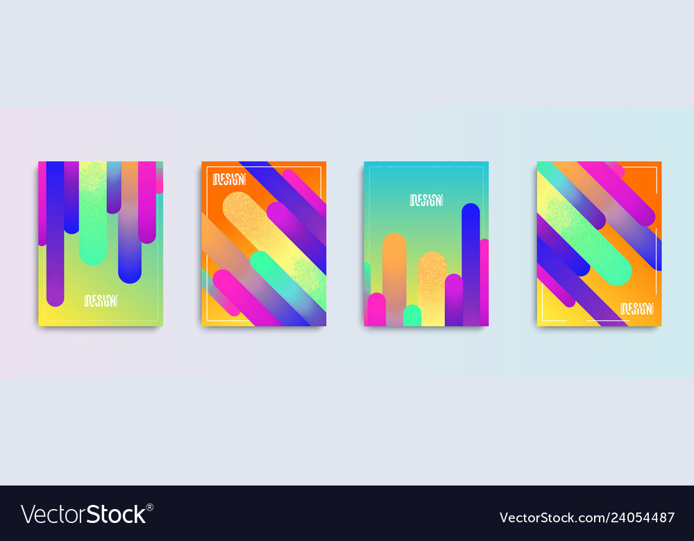 Cool Gradient Shapes Composition Modern Abstract