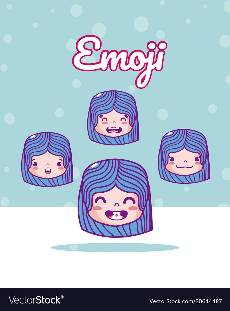Cute girls emojis