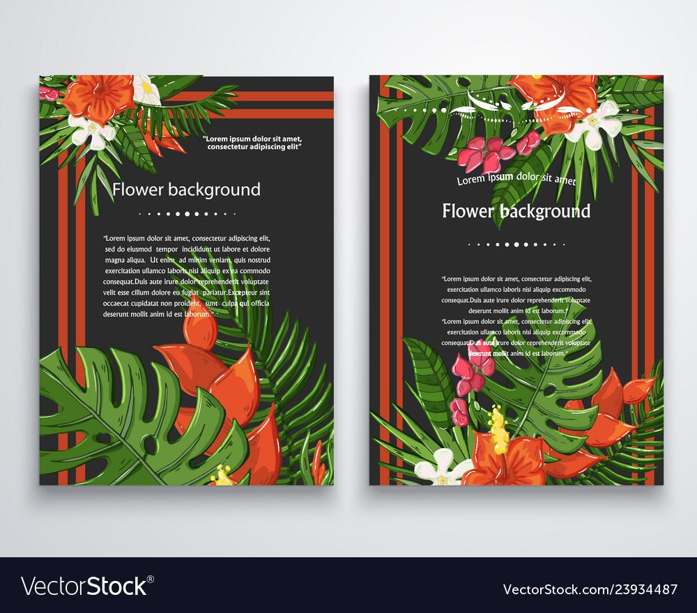 Exotic flower background on a darckjungle