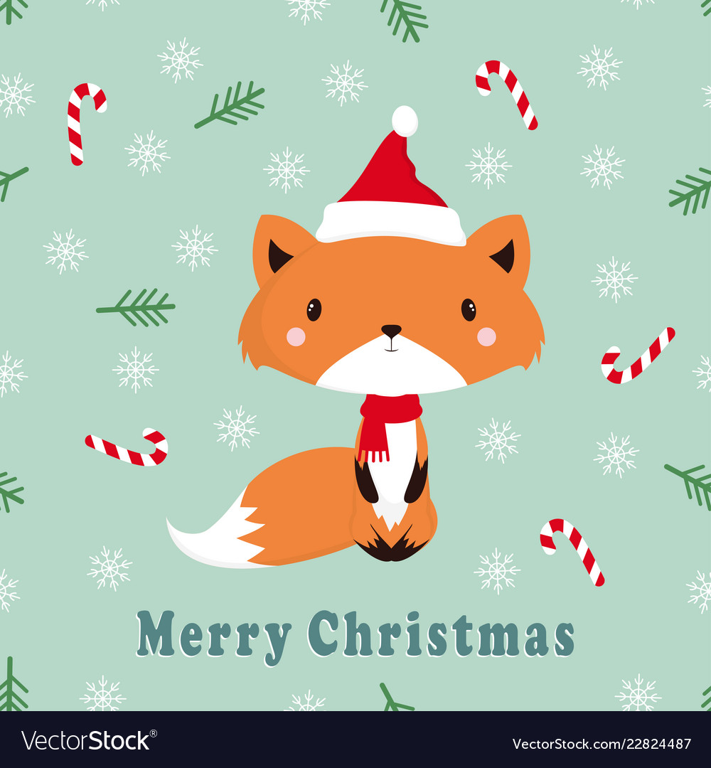 Greeting pattern with fox