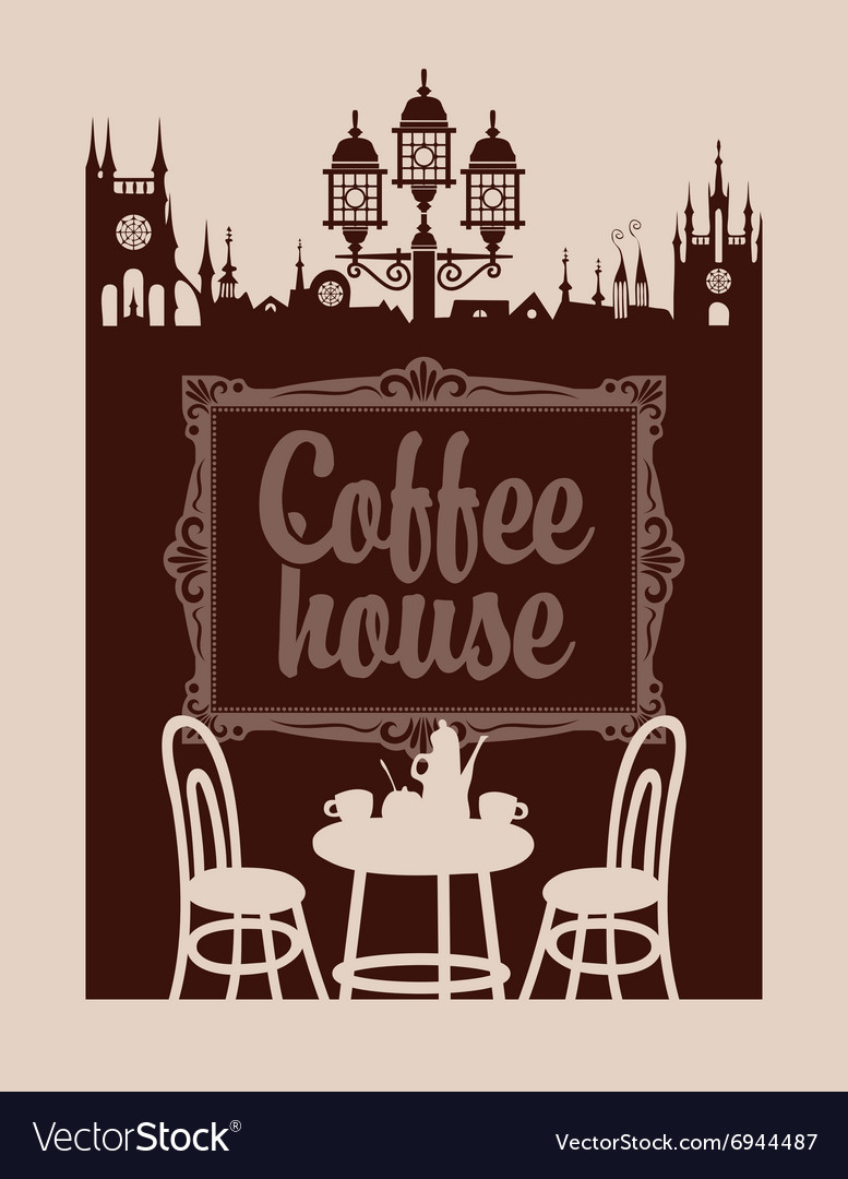 Menu for coffee house vector image