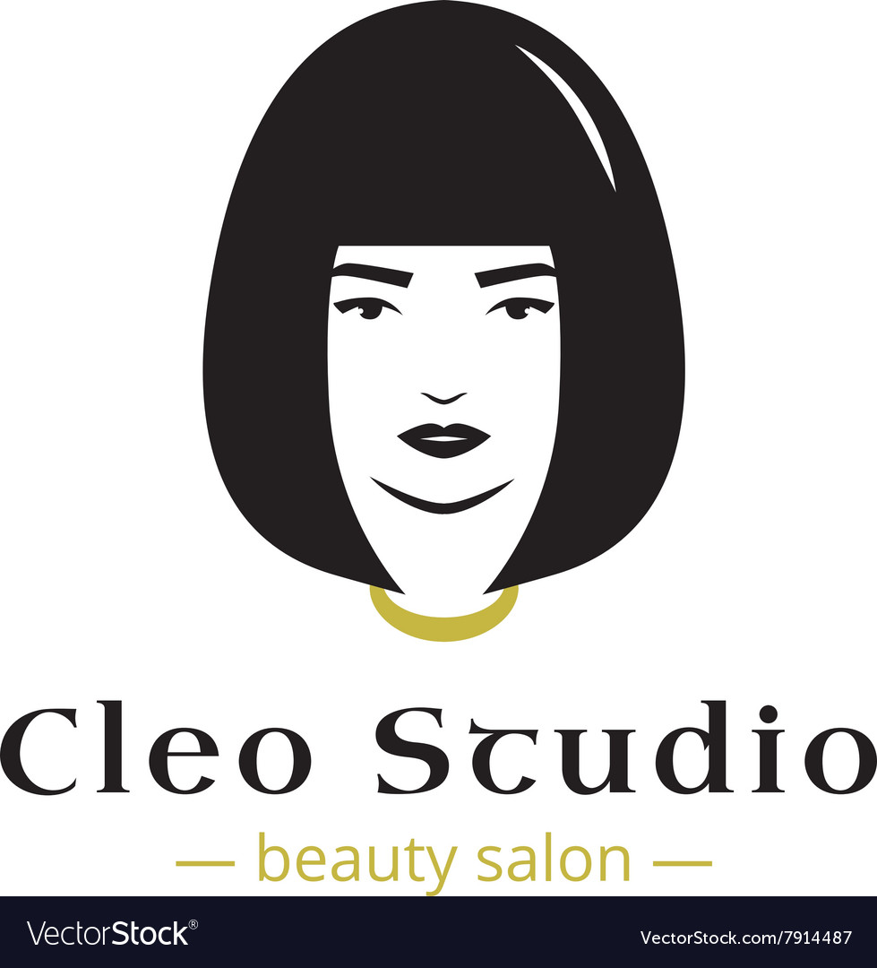 Minimalistic beauty studio logo in black
