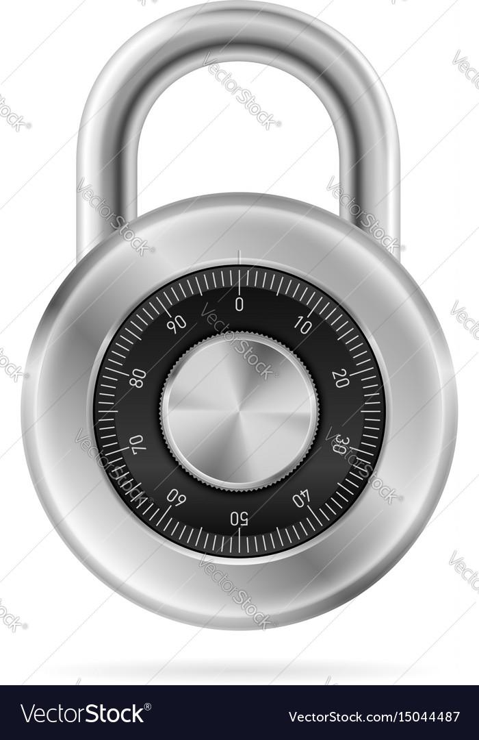 734ec255de15 Security concept with locked combination pad lock