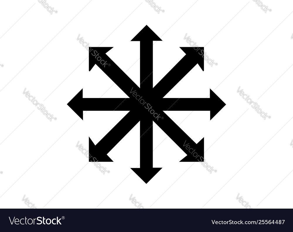 Symbol chaos isolated on white