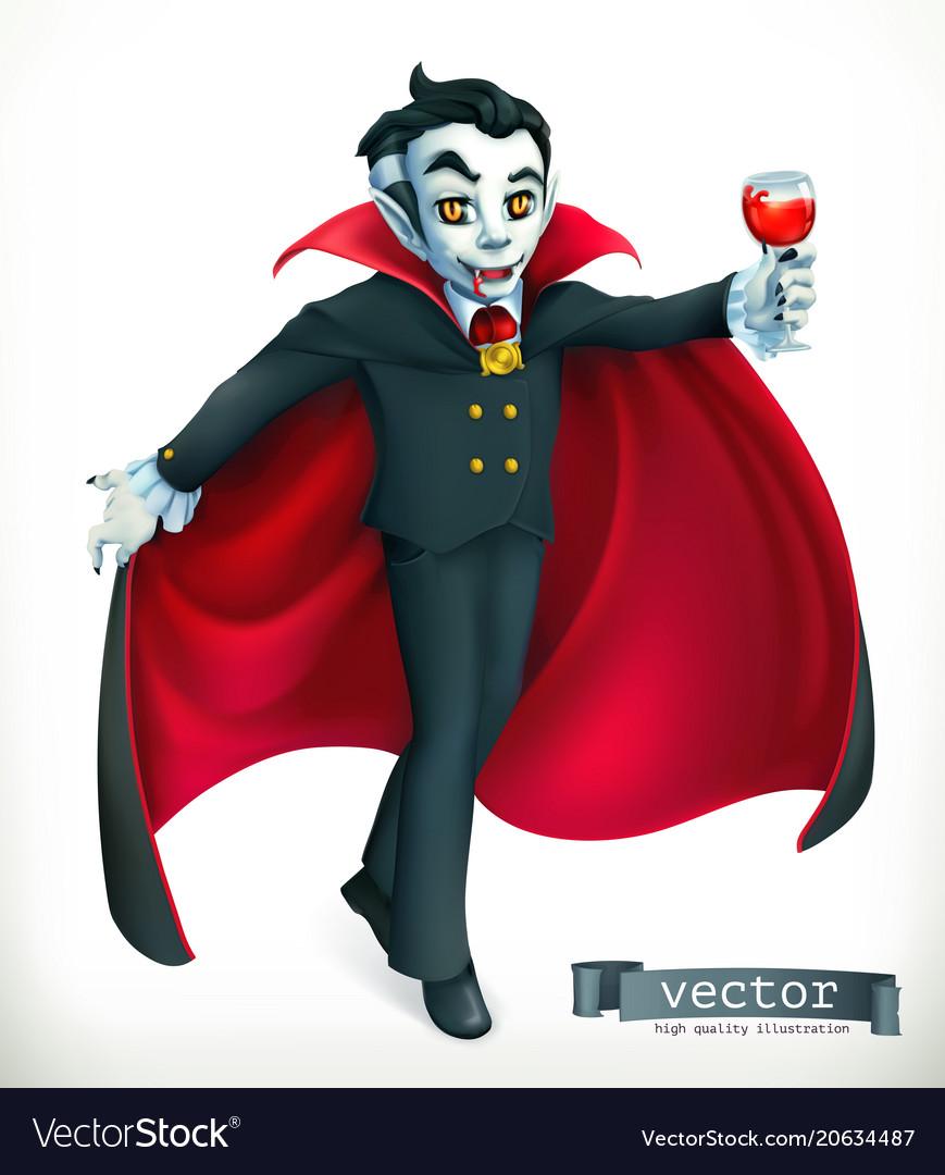 Vampire happy halloween 3d icon