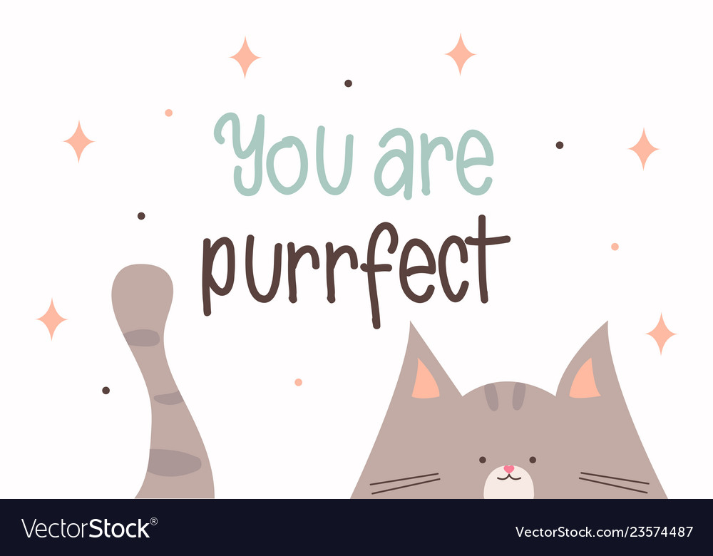 You are purrfect greeting card for valentines day