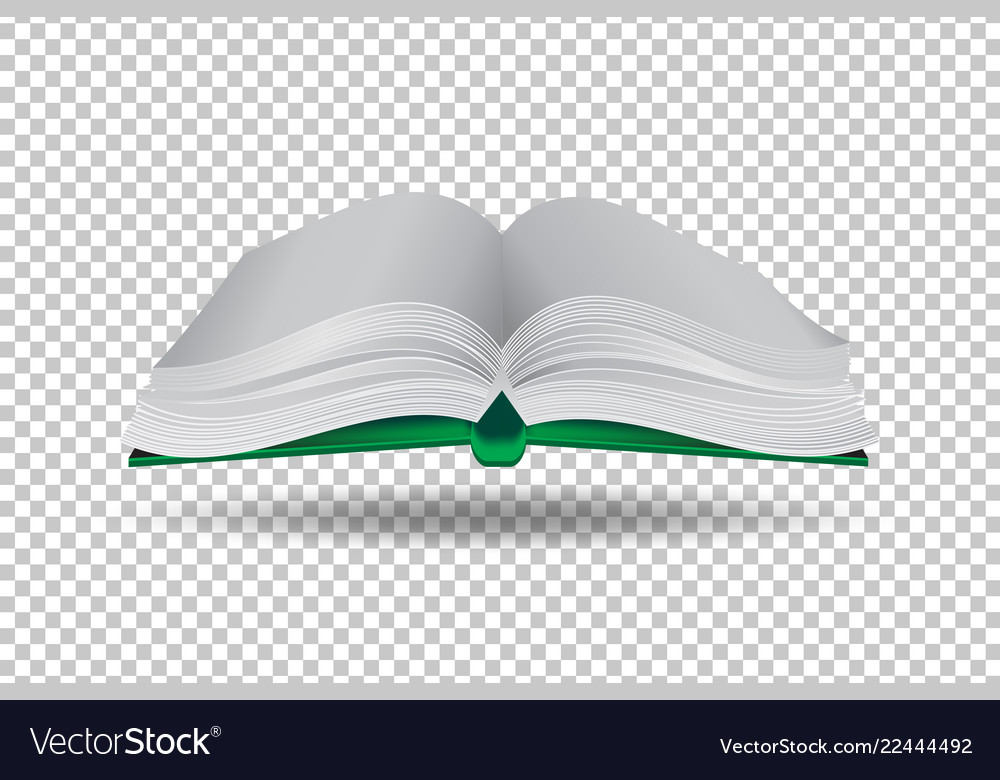 Book on transparent background paper art style