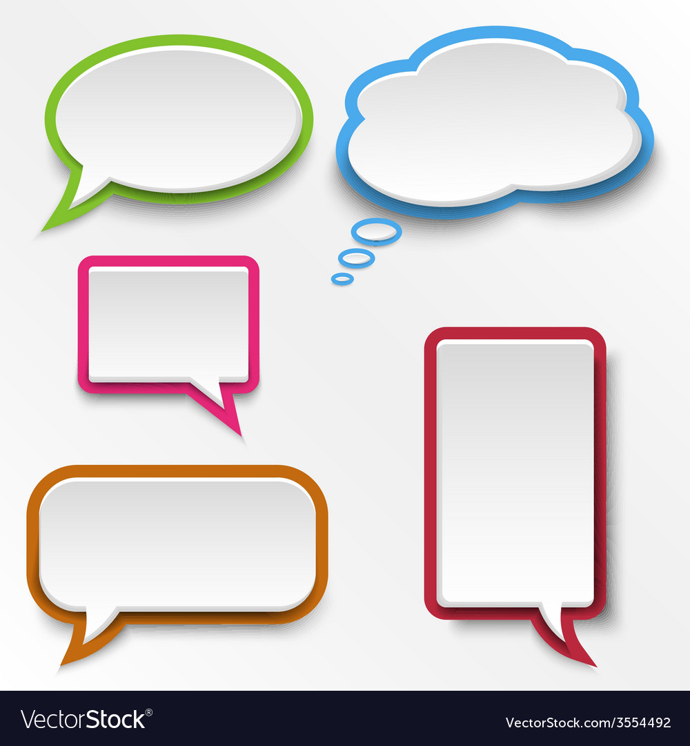 colorful abstract speak bubbles template vector image