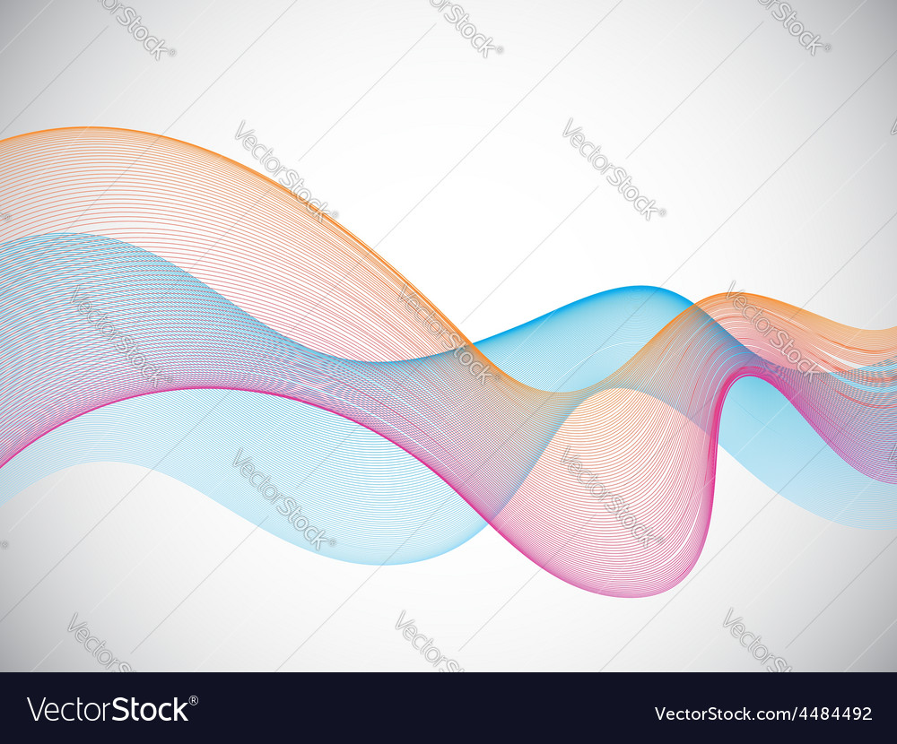 Colorful Lines on Gray Background vector image