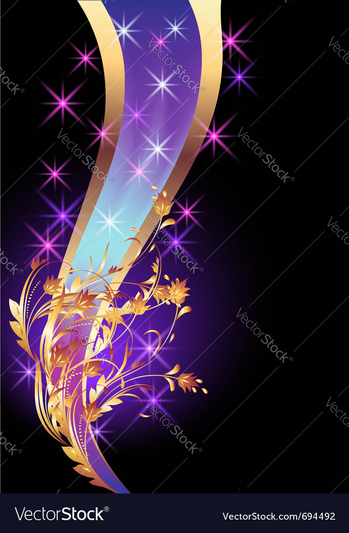 golden poster vector image