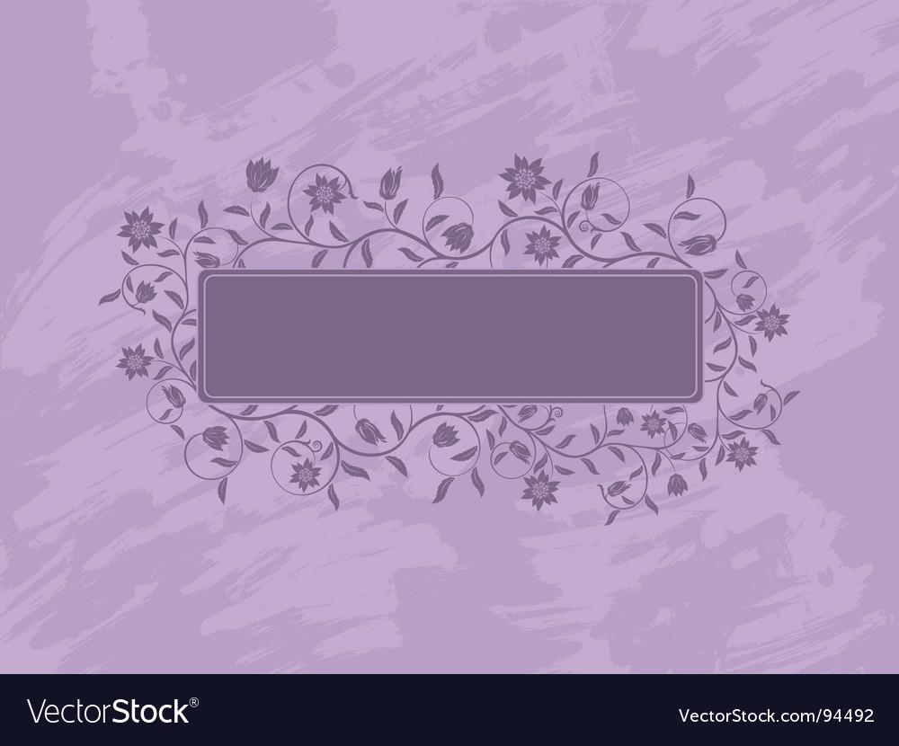 Grunge floral banner vector image