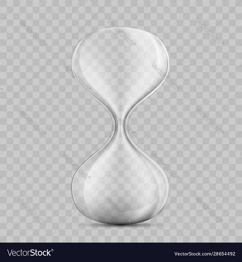 Icon empty hourglass template sandglass