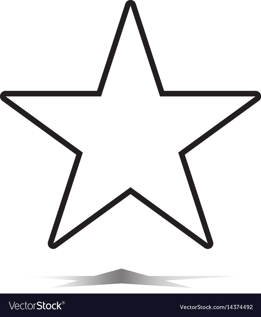 Star icon flat star icon on white background vector image