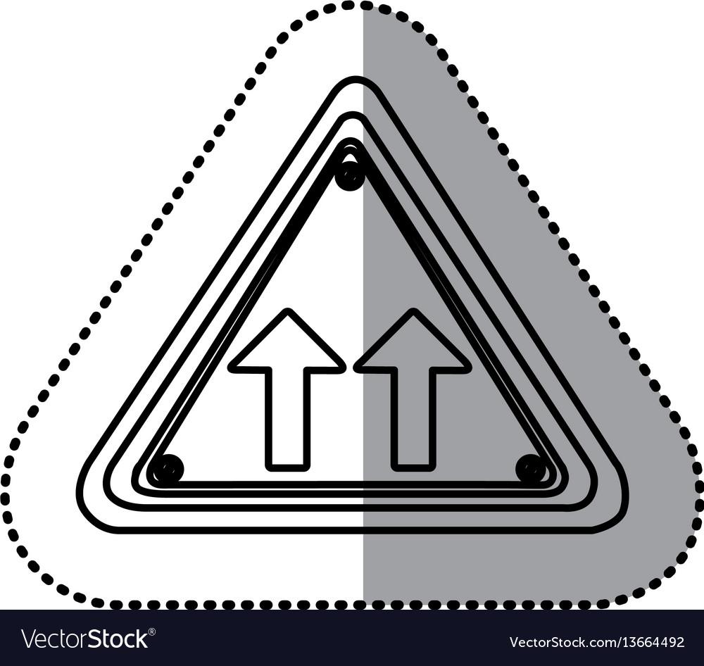 Sticker silhouette triangle shape frame same