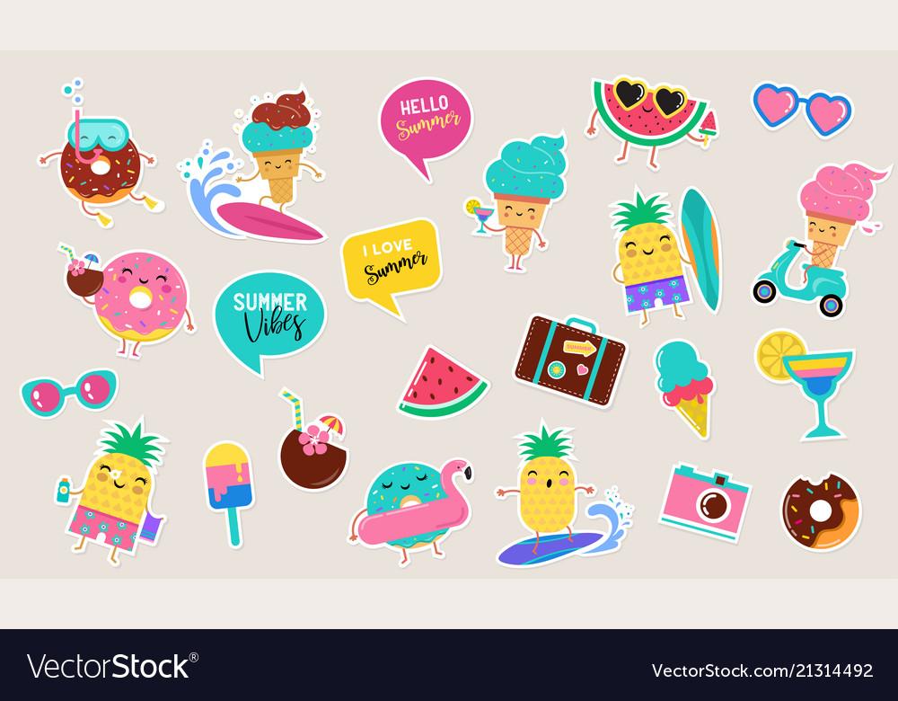 Sweet summer - cute ice cream watermelon and