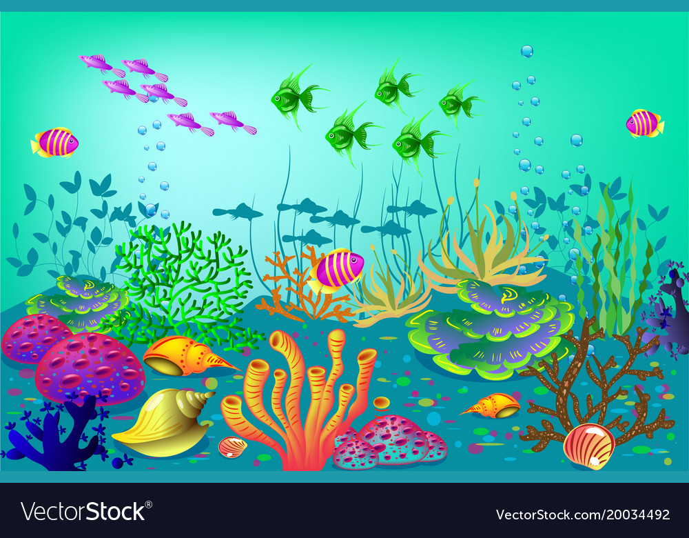 Underwater background for vector image