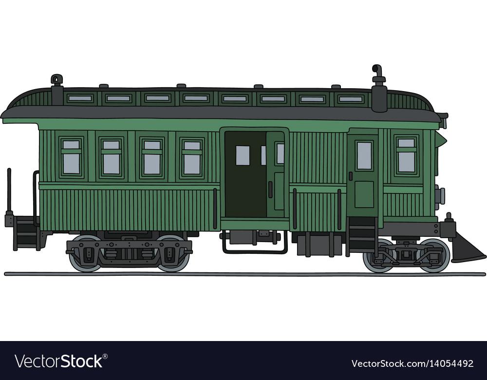 Vintage green motor railcar