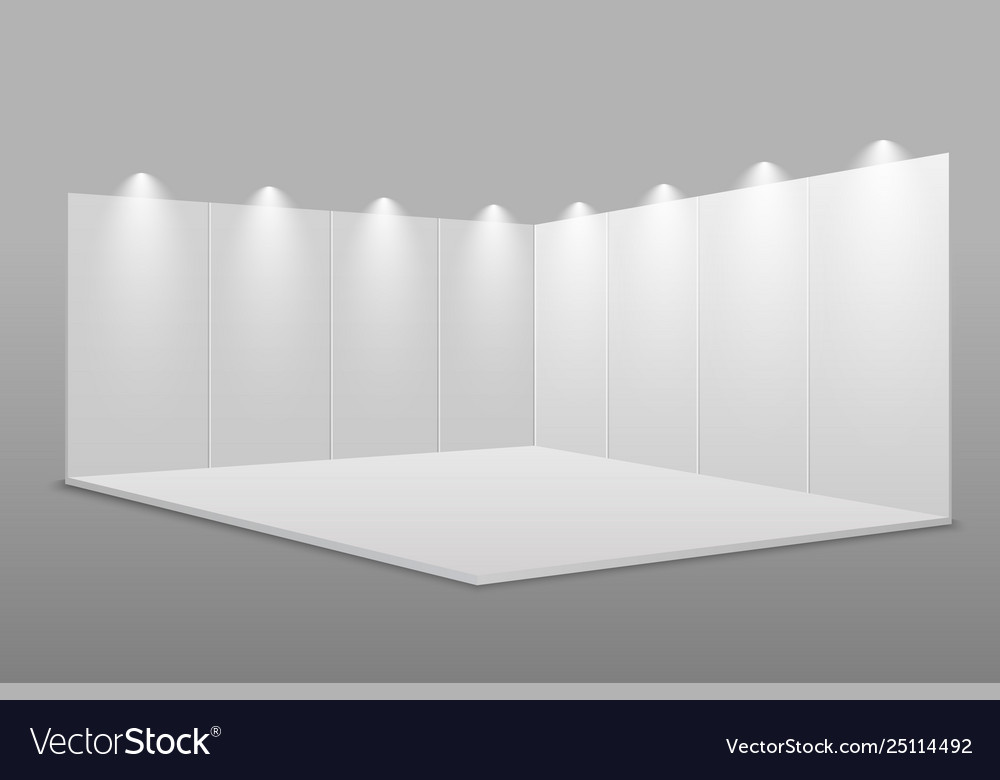 White blank exhibition stand